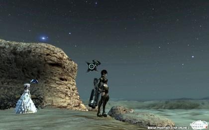 砂漠の流星